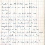 Papas Aufzeichnungen Herbsturlaub 1976 im Oberharz - Seite 1