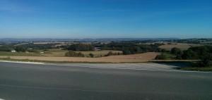 Blick vom Herforder Sender Richtung Wiehengebirge