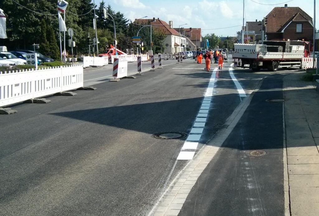 Kreuzung Eidinghausener Straße - Werster Straße Führung des Radverkehrs auf der Fahrbahn