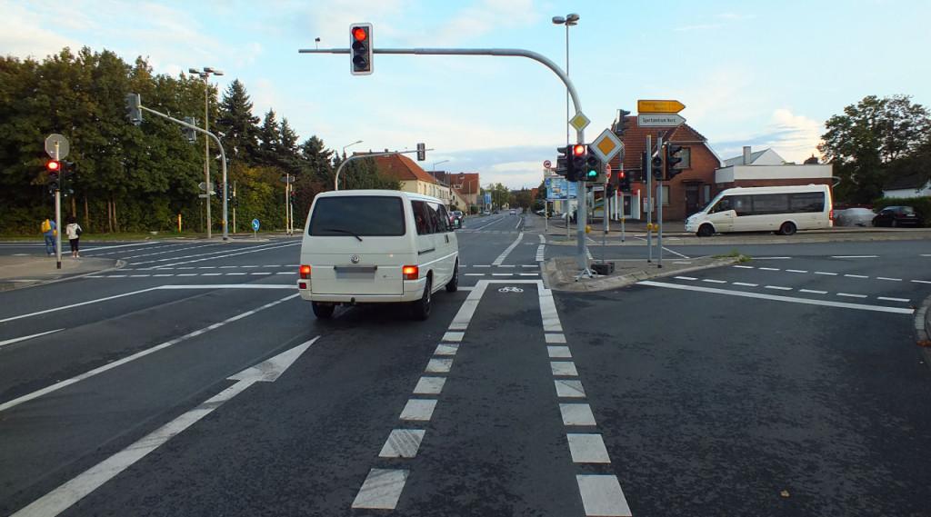 Kreuzung Eidinghausener und Werster Straße - Blickrichtung Süden