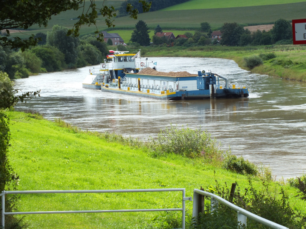 Schiff auf der Weser