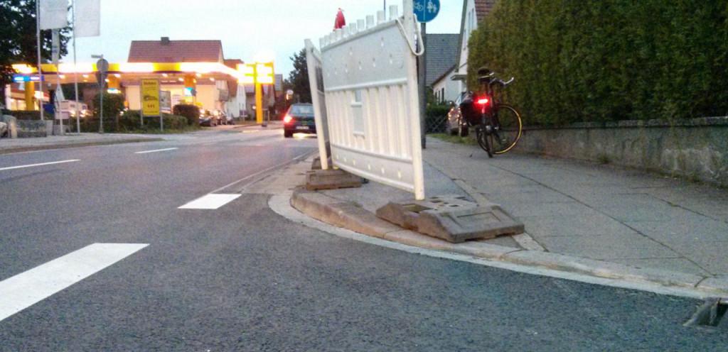 Einmündung Werrestraße in die Eidinghausener Straße
