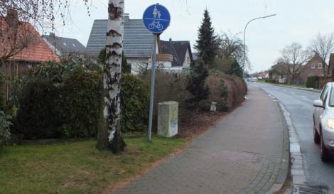 Alter Postweg - Einmündung Auf dem Heidkamp - Gegenrichtung