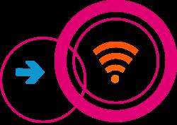 Freifunk-Logo mit WLAN-Symbol