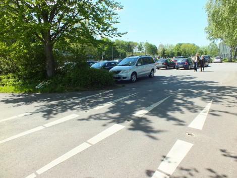 Weserradweg ohne Pfosten