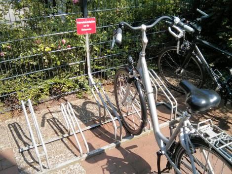 Fahrradständer am HDZ