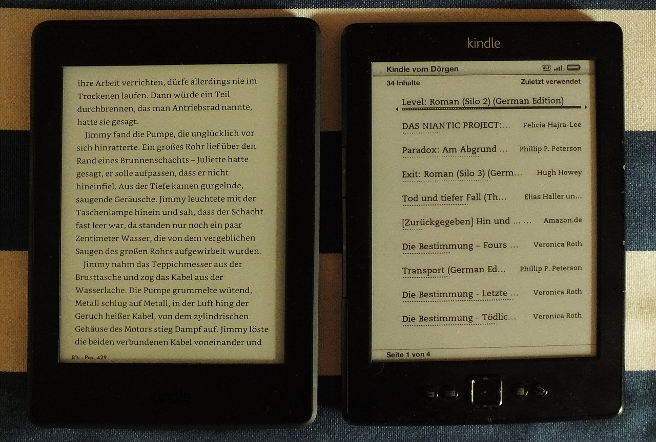 Kindle Beleuchtung | Kindle Und Kindle Paperwhite Mein Senf