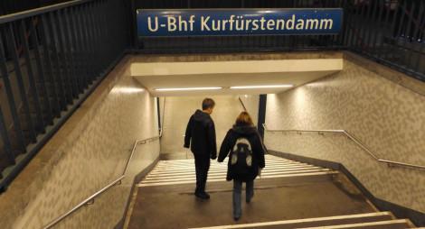 Mit der U-Bahn zurück zum Hotel