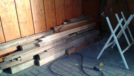 Restholz für den Kamin