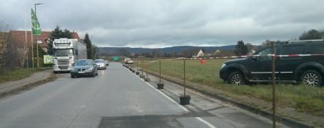 Abgetrennter Streifen an der Hermann-Löns-Straße