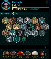 Ingress-Profil mit Star-Wars-Mission-Badges