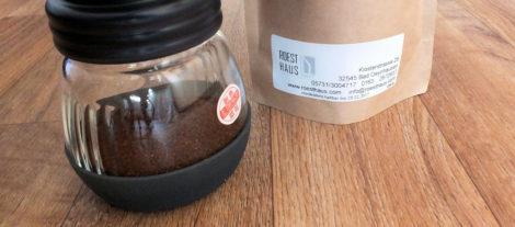 Kaffeepulver gemahlen