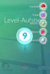 Levelaufstieg von 8 nach 9