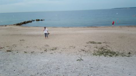 Umgucken ob auch Strand da ist