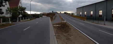 Erste Querung der Börstelstraße nach der Brückenstraße