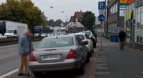Falschparker an der Mindener Straße