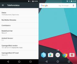 Nexus 4 mit Android 7.1