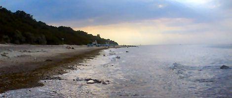 Küste bei Kühlunsgborn am späten Nachmittag