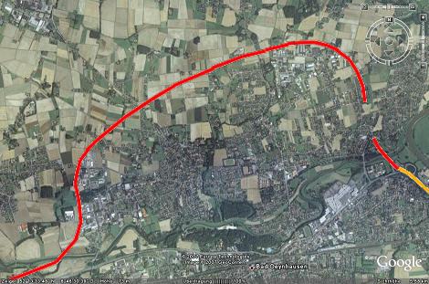 Verlauf der Nordumgehungstrasse