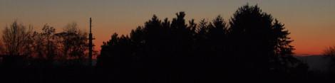 Abendrot - Blick nach Westen - Totale