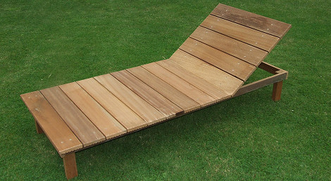 Holzliege mein senf - Liegestuhl selber bauen ...