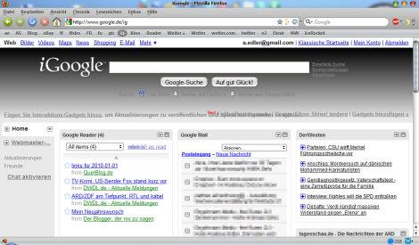 iGoogle mit Tabs