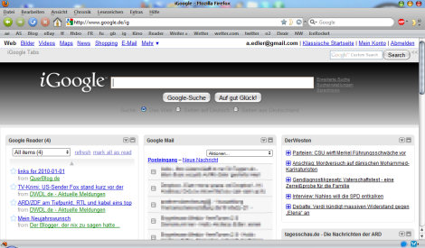 iGoogle ohne Tabs