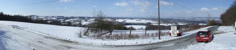 Blick von der Ebenöde über Bad Oeynhausen mit - leider immer noch - Schnee