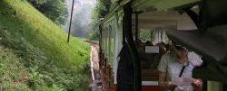 Die Achenseebahn schnauft sich Richtung Endstation