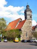 Die Kirche vorm Hotel - mit Grad von Doktor Eisenbart