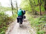 Der Fuldaradweg führt viel durch Wald ...