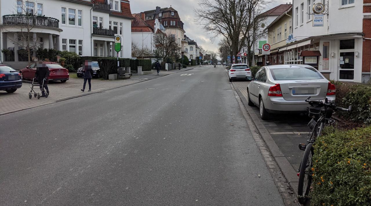 Dooring auf der Herforder Straße
